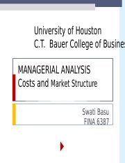 Week 3 PPT Cost and Market Structure 2.ppt