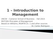 MGMT 1 - Intro to Management (2)