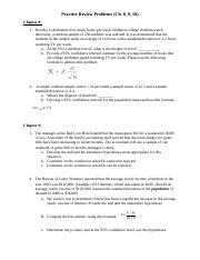 Practice Test Problems with Solutions-Ch. 8, 9, 10