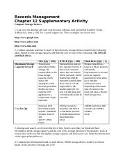 Chapter 12 Supplementary Activity Word File