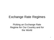 4 Exchage rate regimes