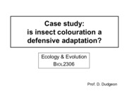 8. Is insect colouration a defensive adaptation.pdf