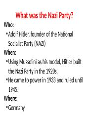 What was the Nazi Party.pptx