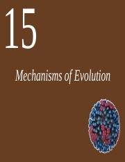 Chapter 15 lecture Mechanisms of Evolution