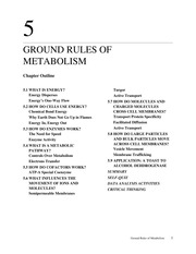 GROUND RULES OF METABOLISM