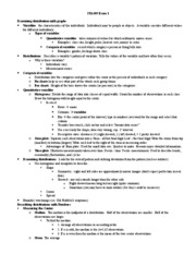 STA309 Exam I Outline
