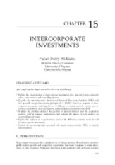 Chapter 15 - Intercorporate Investments