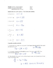 linear equations evaluation notes