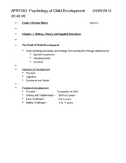APSY203 Exam 1 Review Sheet