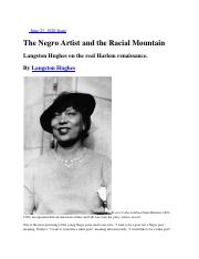 Hughes - The Negro Artist and the Racial Mountain (1926)(1)