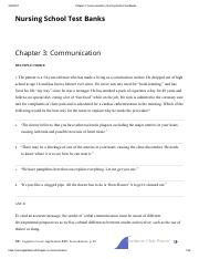 Chapter 3_ Communication _ Nursing School Test Banks