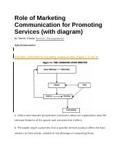 Role of Marketing Communication for Promoting Services.docx