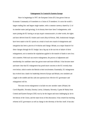 Eu enlargement essay