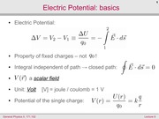 Electric Potential: Basics