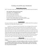 Brianna Love - Creating your profile essay introduction.pdf