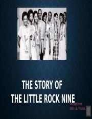 essay on the little rock nine Rock hall revisited this is a chance for future rock legends readers to vote as if they had a ballot for the rock and roll hall of fame thanks to gassman for organizing and moderating the voting (this discussion originally started in the comments on the 2010 inductees page).