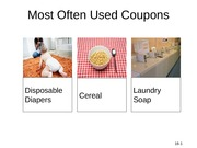 Most Often Used Coupons