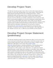 Develop Project Team.docx