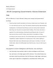 04.05 Comparing Governments Honors Extension