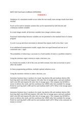 MATH 540 Final Exam (3 different VERSIONS)