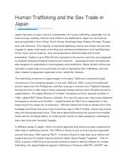 Human Trafficking and the Sex Trade in Japan.docx