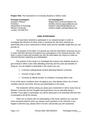 Qualitative Research Paper Letter of Information