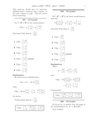 Matrix Vector Multiplication Homework