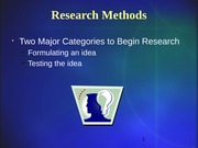 Research Methods REVISED