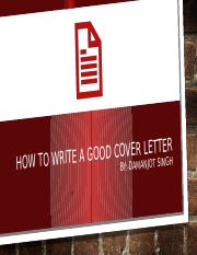 Damanjot Singh-How to write a good Cover Letter.pptx