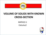 volume of solids with known cross-section