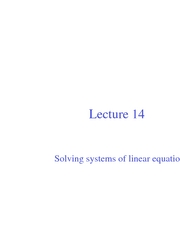 Lec14-Solving systems of linear equations