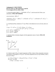 CHEM 1000A Fall 2002 Assignment 1 Solutions