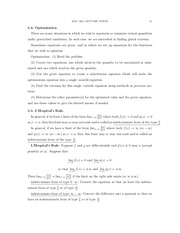 MAC2241 Life Science Calc 1, Chapter 5 Part 3 Notes Optimization