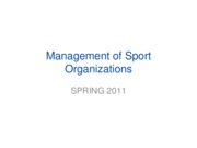 SMGT 3238 Ch 1 notes Sport Orgs Summary Spring 2011