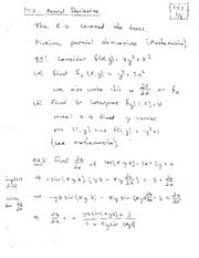 Lecture 2 on Partial Derivatives