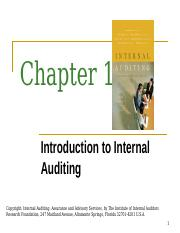 Chapter 1 - Introduction to Internal Auditing