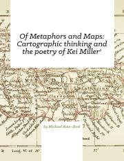 Michael Rose-Steel - Cartographic Thinking and Poetry of Kei Miller