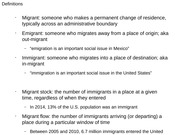 UC Davis SOC 04 Spring 2015 4-2-2015 slide with migrant definitions