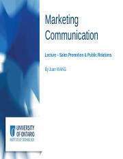 BUSI3200 - Sales Promotion and Public Relations and Social Media