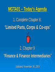 08 - Corps and Coops - Nov 16 2016.ppt