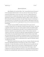 mussolini essay on fascism (A)