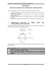 Prac 3 - Analysis of amino acids, peptides and carbohydrates.pdf
