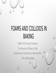 Module 8 Foams and Colloids in Baking.pptx