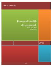 Personal Health Assessment HLTH 419