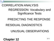 BCOR 1020 Chapter 12 Simple Regression Analysis