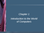 #1 Introduction to Computers