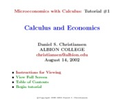 Microecon Calculus Tutorial 1