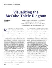 Visualizing the McCabe-Thiele Diagram