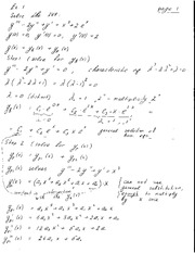 Notes on Solution by Parameters