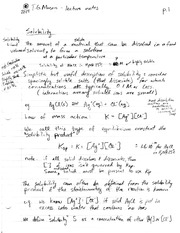 TGM Solubility Notes